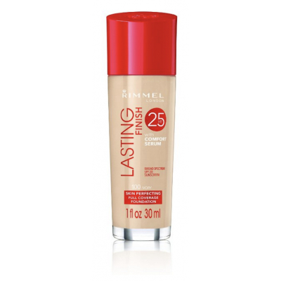 Rimmel Lasting Finish 25h Foundation With Comfort Serum 100 Ivory 30 ml