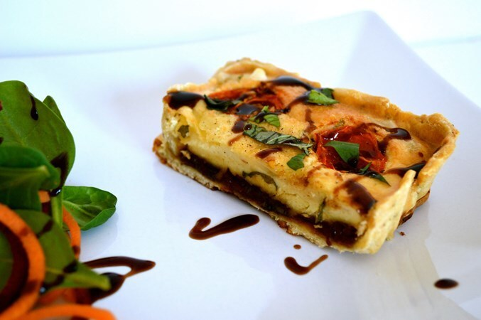 Gluten and Dairy Free Chutney, Cheese & Tomato Tart with Rosemary Pastry