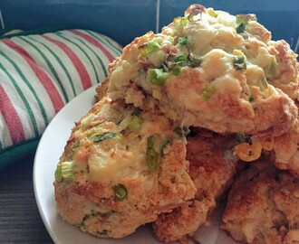 EASY CHEESY VEGGIE HAM AND ONION SCONES