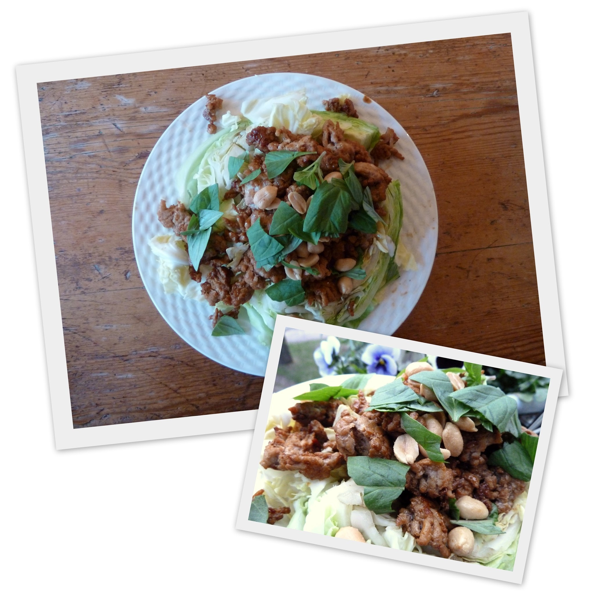 Fast food my way 5; Asian cabbage salad with minced chicken