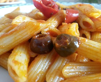 Penne con sugo all'arrabbiata...rivisitato