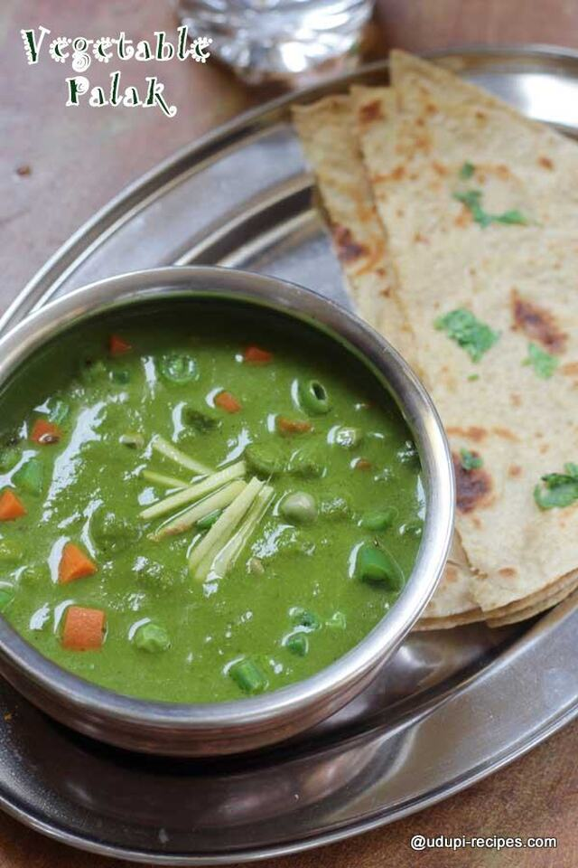 Vegetable Palak Gravy | Healthy Chapati Side Dish