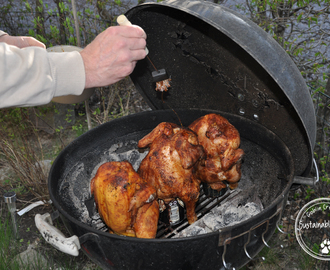 Beer can chicken på ekologisk majskyckling