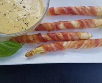 Bacon Spargel mit Sauce Hollandaise