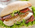 Low Fat Chicken sandwich with summer flavor