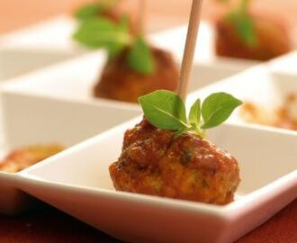 Italian Cocktail Meatballs with Herbs and Ricotta