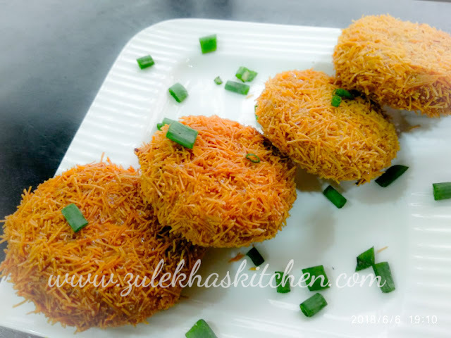 Recipe Of Creamy Noodles Kabbabs / Noodles kabbabs