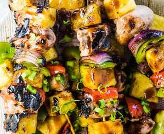 Grilled Hawaiian Chicken Skewers with Coconut Rice