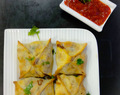 Recipe Of Chicken Chinese Samosa / Chicken Chinese Samosa squares