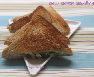 Chilli Cheese Sandwich - Cheese Chilli Sandwich Recipe