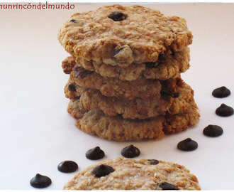 Galletas de avena con yogur y chispas de chocolate