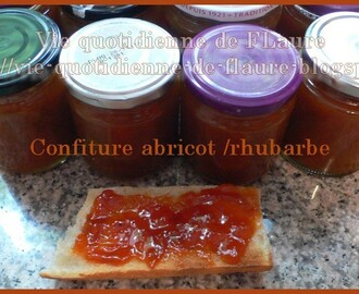 Confiture abricot - rhubarbe au gingembre (cooking chef OU pas)