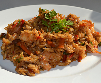 Egg fried rice og farvel og tak