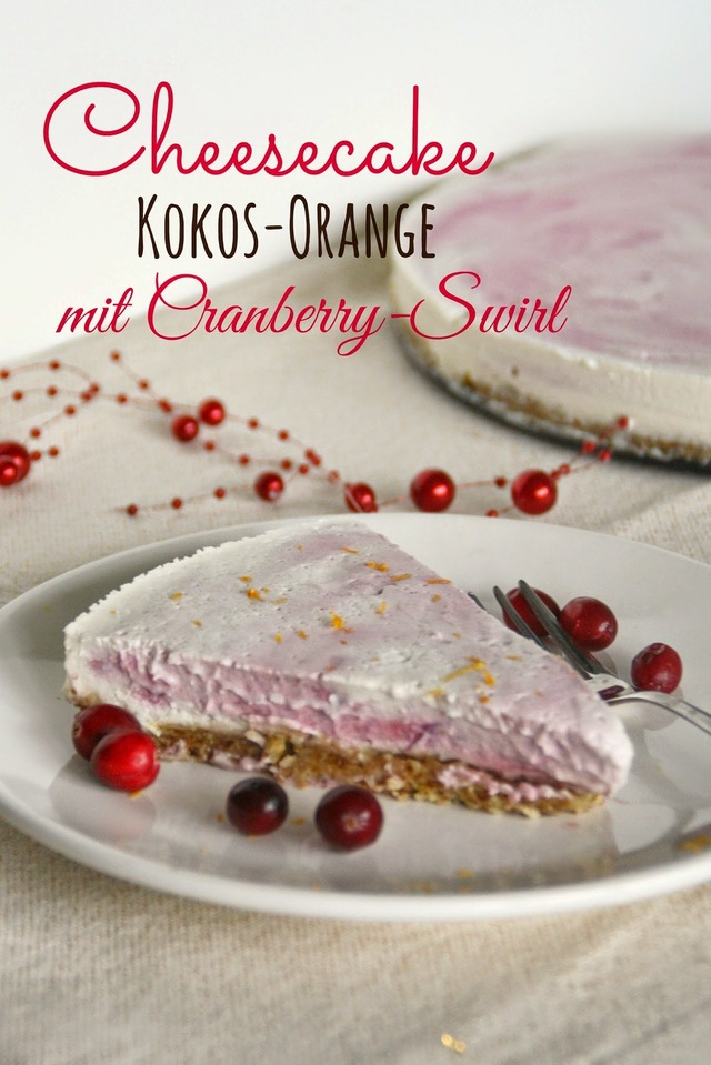 Lecker - super lecker - Cheesecake mit Cranberry-Swirl!