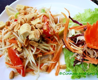 "Thai Green Papaya Salad "" Som Tam Thai"""