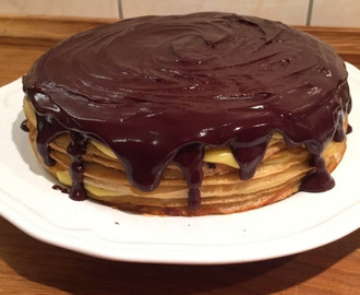 Boston Cream Crêpe Cake