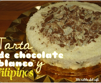 Tarta de chocolate blanco y filipinos