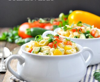 Fresh and Fast Creamy Pasta Primavera {+ a Video!}