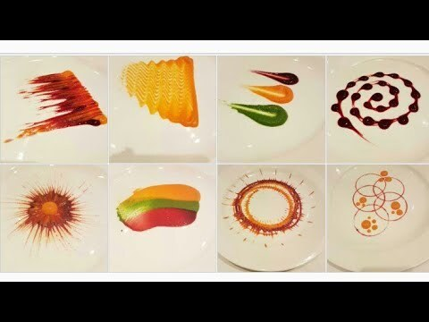 Types of Colorful Plating techniques | Part 1| Art on the plate| By MONIKA TALWAR - YouTube