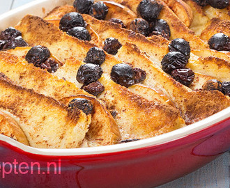 Broodpudding met appel