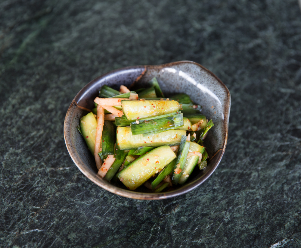 Korean Home Cooking: <i#x3E;Quick and Easy Cucumber Kimchi</i#x3E;