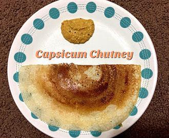 Capsicum Chutney Hebbar S Kitchen