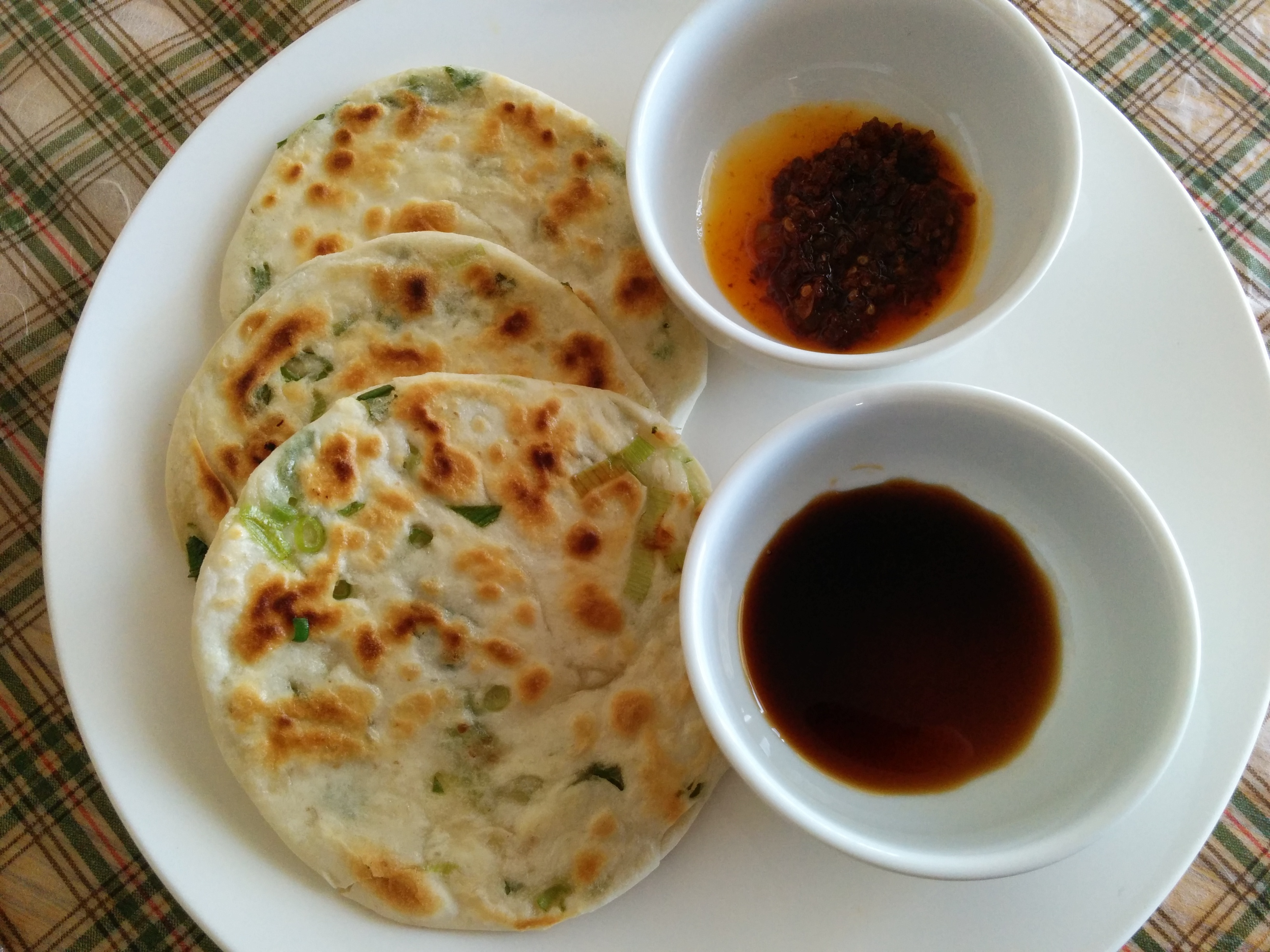 Chinese green onion pancakes (vegan)