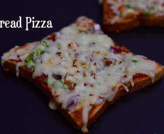Bread Pizza without Oven|Tawa Bread Pizza|Vegetable Bread Pizza
