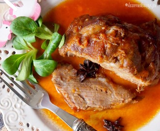 Pieczona karkówka w imbirze, anyżu i miodzie / Roasted pork neck with honey, star anise and ginger
