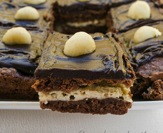 Brownie con queso cremoso