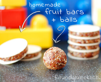 {Clean Eating} Fruchtschnitten / Fruit bars