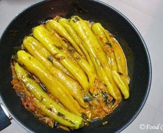 Spicy Banana Pepper Stir-fry (Malu Miris Curry)