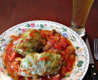 Polish Coal Miner Piggies (Stuffed Cabbage Rolls- Golabki) #SundaySupper
