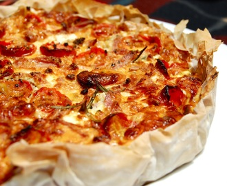 Bacon, Rosemary and Feta Quiche