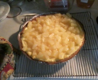 Pineapple Cheesecake made with Goat Cheese
