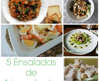 5 Ensaladas con 4 ingredientes
