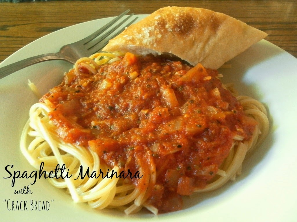 Spaghetti Marinara with Crack Bread