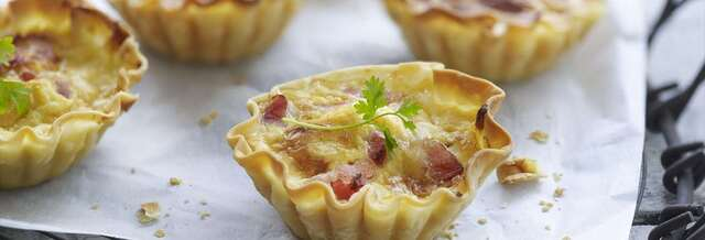 TARTALETAS DE TORTILLA Y BACON