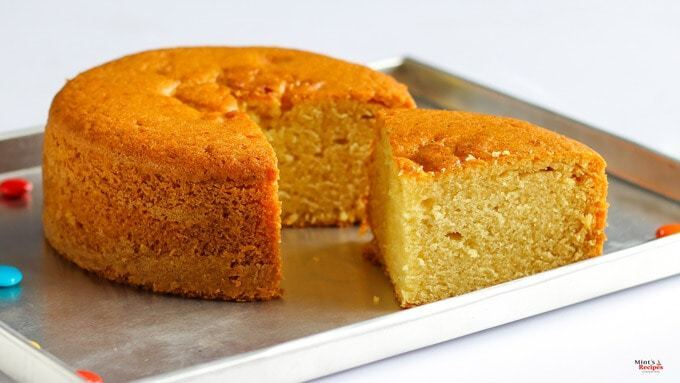 Eggless Cake in Pressure Cooker | Vanilla Cake Recipe