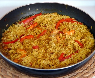 Arroz al Curry con Langostinos