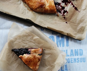 wild blueberry galette & fishing in finland