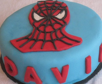 Tarta infantil: Spiderman