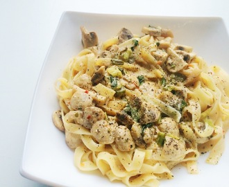 Tagliatelle in Pilz-Rahm-Soße / Tagliatelle with mushroom cream sauce