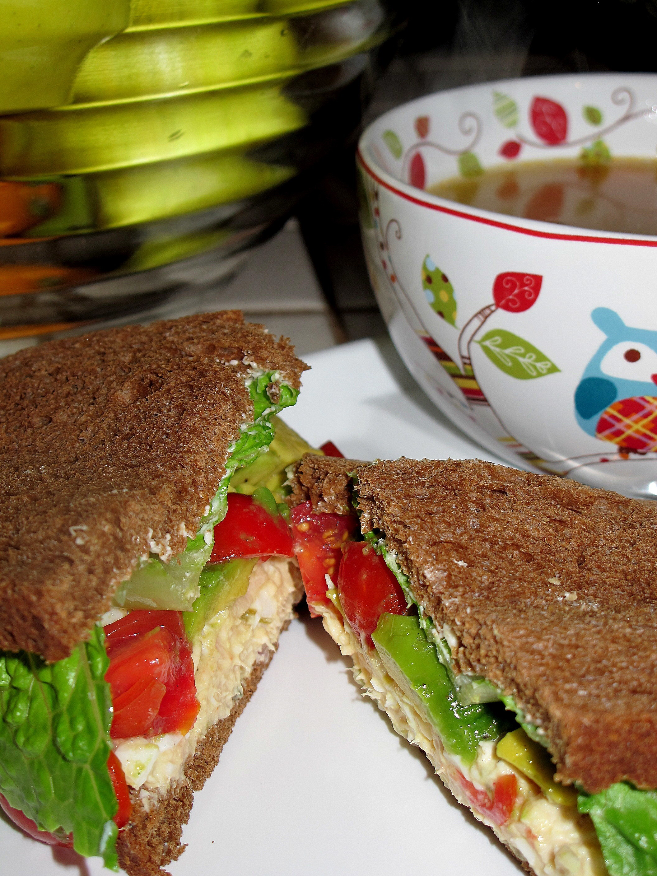 Everyone should smile. Life really isn't that serious. We make it hard. The sun rises. The sun sets. We just tend to complicate the process. – anon and Best Tuna and Egg Sandwich with Tomato and Avocado Relish
