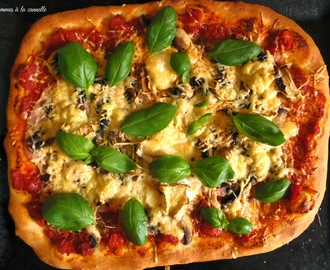 Klasyczna pizza z szynką, pieczarkami i serem/Classic ham, mushrooms and cheese pizza