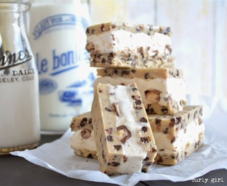 Chocolate Chip Cookie Dough Ice Cream Bars