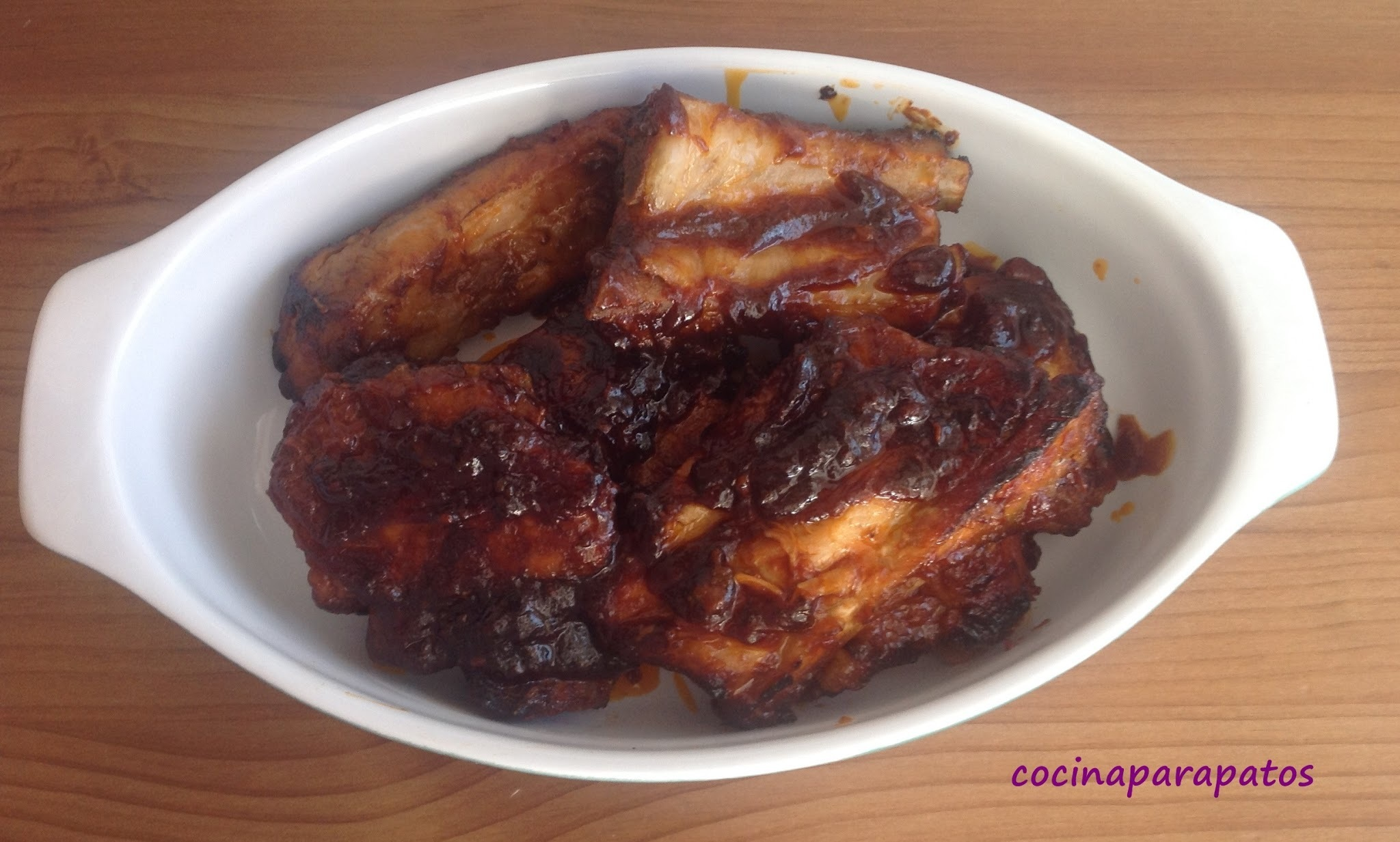 COSTILLAS A LA BARBACOA (Thermomix by olla gm)