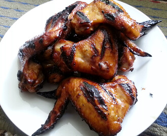 Sweet and Sticky Grilled Chicken Wings