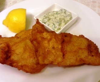 Beer Battered Fish and Chips with Tartar Sauce