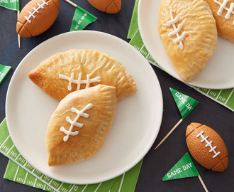 Mini Football Buffalo Chicken Calzones
